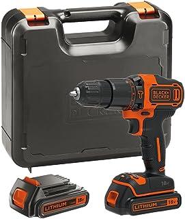 Black+Decker 百得 18 V 锂离子锤钻 黑色/橙色 2 x 1.5Ah Li-Ion BDCHD18KB-GB