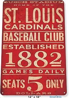 TIN Sign St. Louis Cardinals Card Metal Decor Art Baseball Shop Store A169 Tin Sign 7.8inch11.8inch