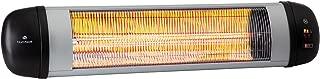 Blumfeldt Rising Sun Zenith - Estufa radiante , Calefactor infrarrojo , Calefactor de exteriores , Distribuye el calor hasta 2500W , 3 niveles , Protección IP34 , Mando a distancia , Plateado