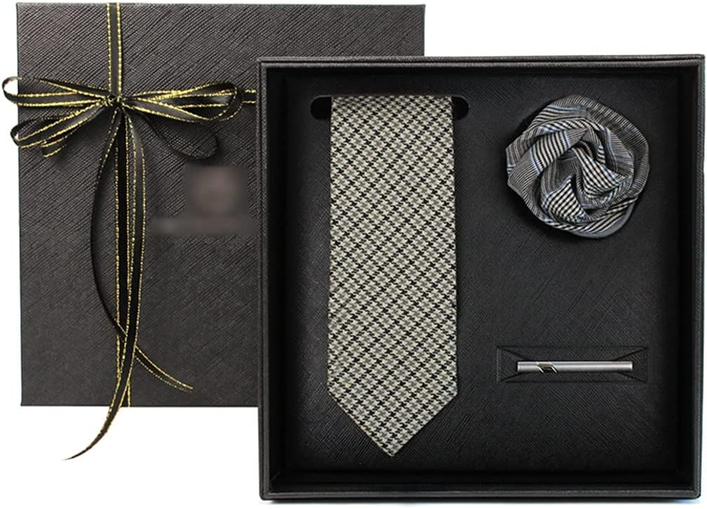 New Orleans Mall Necktie Sets for Men Light Earth Us Business Check Tie Clearance SALE! Limited time! Color