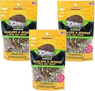 Sunseed Vita Prima Hedgehog Treat-Wigglers & Berries 2.5 Ounce (Pack of 3)