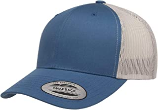Yupoong Retro Trucker Hat & 2-Tone Snapback - 6606 Steel Blue/Silver