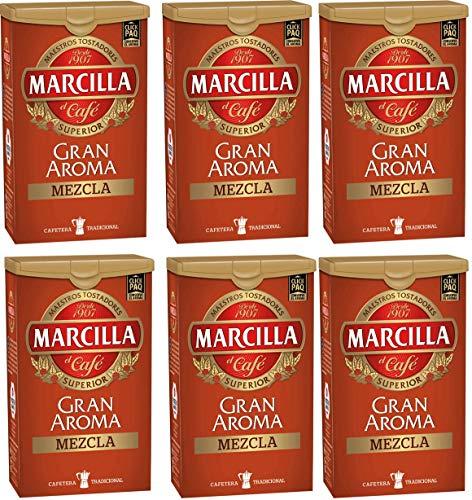 MARCILLA GRAN AROMA gemahlener Kaffee Mischen 250g 6x verpacken