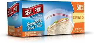Sealpro Lot de 50 sacs de rangement en plastique avec fermeture éclair