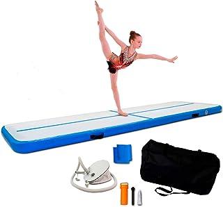 ReAct Air Track 3 m med luftpump, gymnastik luftmatta – uppblåsbar gymnastikmatta bäst för gymnastik träning och yoga – bä...