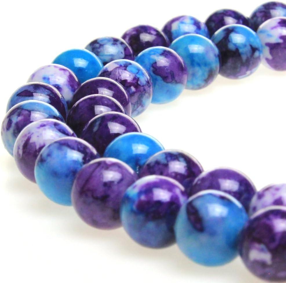JARTC 5A Smooth Round Rain Flower Beads DIY Bracelet Tucson 67% OFF of fixed price Mall Stones Jewe
