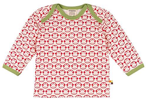 loud + proud Baby-Unisex Shirt Langarm Druck Sweatshirt, Rot (Tomato to), 104 (Herstellergröße: 98/104)