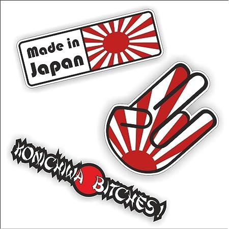 Jdm Aufkleber Frontscheibenaufkleber Rising Sun Jdm Style Domokun Wakaba Risingsun Japan Style Auto