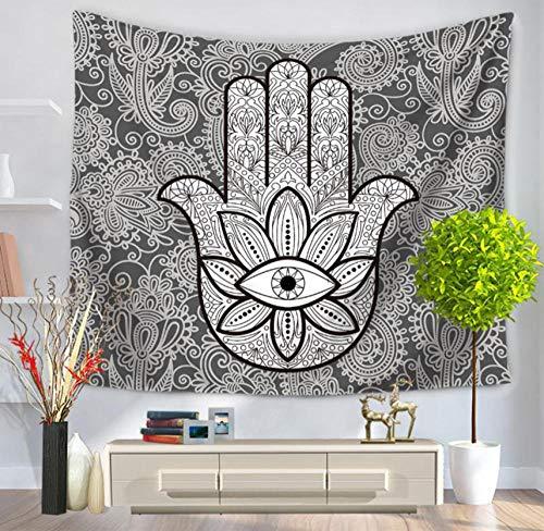 WCCCW Tapices Hippie Bohemio Serie de la Palma Mandala Imprimir decoración Tapiz del hogar Tapiz,Tejido de algodón de imitación 150x205_C4