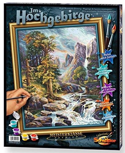 Schipper 609130430 - Malen nach Zahlen - Im Hochgebirge - Bilder malen für Erwachsene, inklusive Pinsel und Acrylfarben, 40 x 50 cm