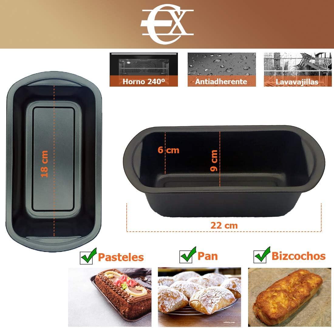 Moule /à p/âtisserie 18 cm Moule rectangulaire Moule anti-adh/ésif EUROXANTY/® Moule /à pain Moule /à g/âteau Moule Plumcake