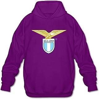 Men's Ss Lazio Logo Sport Hoodies Sweatshirt Black Retro By Rahk