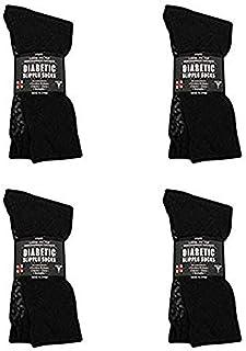 Diabetic Socks Men's or Women's Non Skid Hospital Loose Fitting Slipper Socks With Gripper Bottoms - Gripper socks