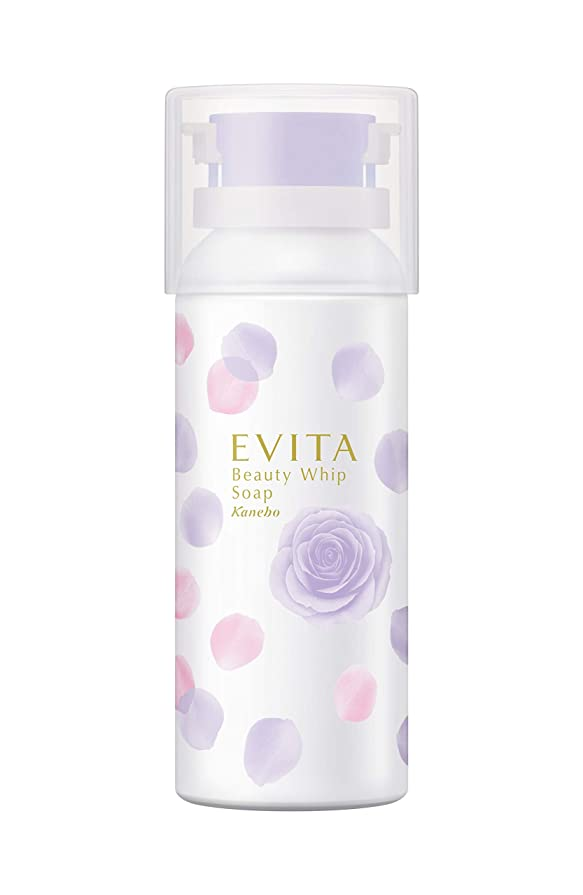 混乱一方、学期エビータ ビューティホイップソープ ローズ&グレープの香り 洗顔料