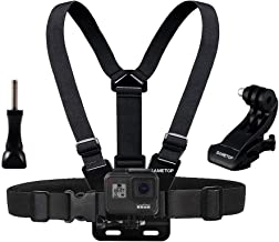 Sametop Chest Mount Harness Chesty Strap Compatible with GoPro Hero 8 Black, Hero 7 Black, 7 Silver, 7 White, Hero 6, 5, 4, Session, 3+, 3, 2, 1, Hero (2018), Fusion, DJI Osmo Action Cameras