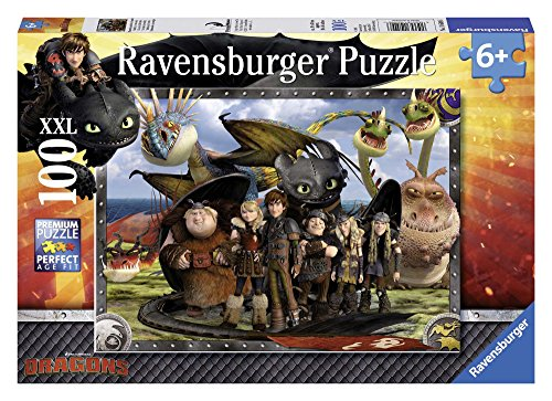 Ravensburger Kinderpuzzle 10549 - Ohnezahn und seine Freunde - 100 Teile