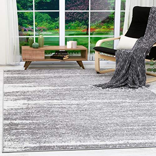 Antep Rugs Siesta Collection Modern Contemporary Polypropylene Indoor Area Rug (Grey/Cream, 8' X 10')