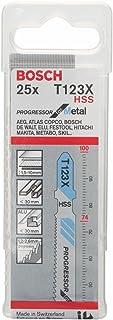 Bosch Professional 25x Hojas de sierra de calar T 123 XF Progressor for Metal (para Láminas de acero, accesorios Sierra de...