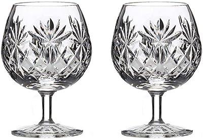 Royal Scot Crystal Kintyre Set of 2 12oz Crystal Brandy Cognac Glasses | Scottish Crystal in a Presentation Box