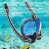 VOLADOR Masque de Plongée, Snorkel Masque Intégral Complet Antibuée et Anti-Fuite Masque Snorkeling pour Plein Visage 180° avec la Support pour Caméra de Sport pour Adultes Enfants