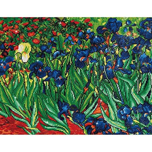DIAMOND DOTZ Complete Diamond Facet Art Kit Irises (Van Gogh)
