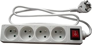 Zenitech 16A Extension Lead with Switch, White 3680 wattsW
