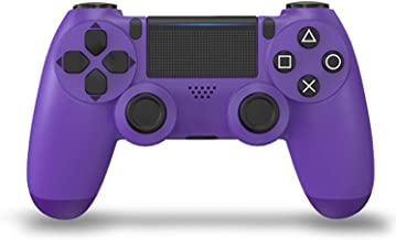 Controlador PS4 Controlador Inalámbrico para Playstation 4 / Pro/Slim/PC, Panel Táctil Gamepad con Doble Vibración Y Función De Audio,Electric Purple