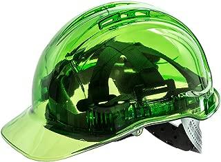 Portwest Peak View Plus Helmet Hard Hat Construction Work Protective Wear Hi Vis Cap ANSI G, Green