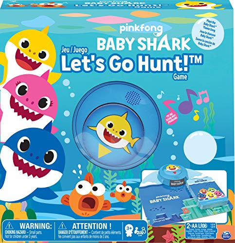 """Spin Master 6054959 Lets Game Pinkfong Baby Shark-""""Let's go Hunt Brettspiel, Mehrfarbig"""