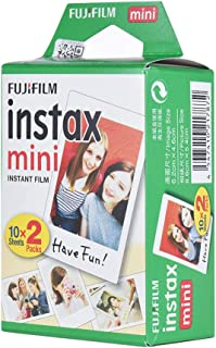 Fujifilm Instax Mini White Film 20 Sheets Photo Paper for Instax Mini 7s,8,25,90,9