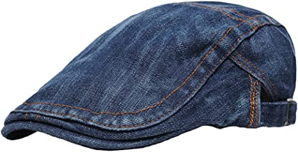 eea65b4cc68 doublebulls hats Denim Flat Cap Newsboy Hat Men Boys Duckbill IVY Cap  Gatsby Driving Cabbie Caps