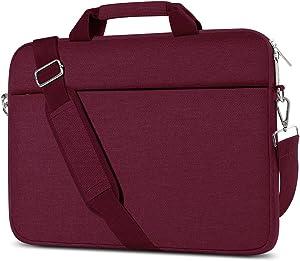 AtailorBird Laptop Bag for Women 17 Inch, Fashion Waterproof Notebook Shoulder Messenger Bag Lightweight Handbag for Office Work Business, Burgundy