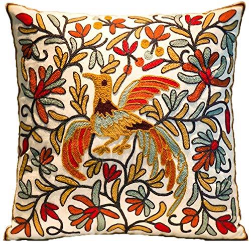KINGAM Funda de cojín para pájaros, 18 x 18 o 45 x 45 cm, hecha a mano,...