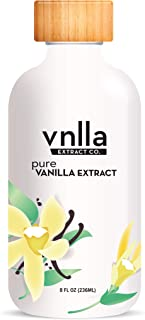 All Natural Pure Vanilla Extract 8oz - vnlla Extract Co. - Sustainably Sourced from Madagascar | Perfect for Baking Cake, ...