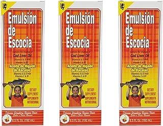 Emulsion de Escocia. Cod Liver Oil Dietary Supplement. Rich in Vitamins A, D, E and B1. Strawberry and Banana Flavour. 6.5...