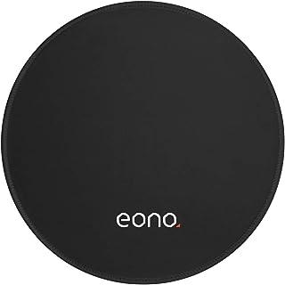 [Amazonブランド] Eono(イオーノ) - マウスパッド 滑り止め 防水 光学式マウス対応 PCマウスパッド ゲーム オフィス用 耐久性が良い - 丸型,ブラック