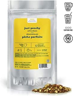 DAVIDsTEA Just Peachy Loose Leaf Tea, Premium Herbal Tea with Peach and BlackBerry Leaf, Fruity Iced Tea, 2 oz