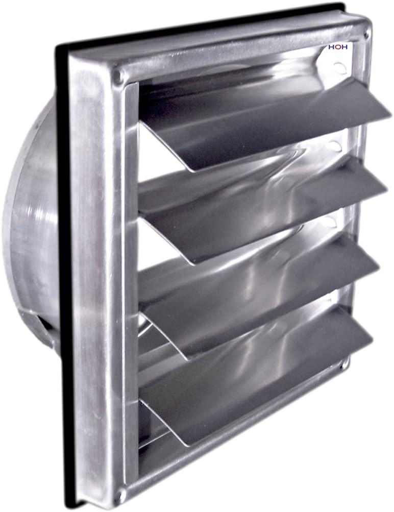 Wetterschutzgitter Ablufthaube Außengitter 150 mm Edelstahl Lüftungsgitter