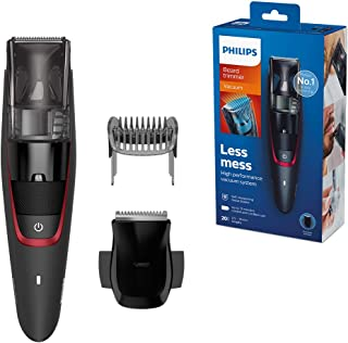 PHILIPS Beard and Stubble Trimmer for Men, Series 7000, 20 Length Settings, 75 mins Run Time, Integrated Vacuum System for...