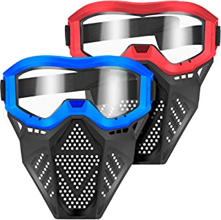 POKONBOY 2 Pack Face Mask, Tactical Mask with Goggles Compatible with Nerf Rival , Apollo, Zeus, Khaos, Atlas, & Artemis B...