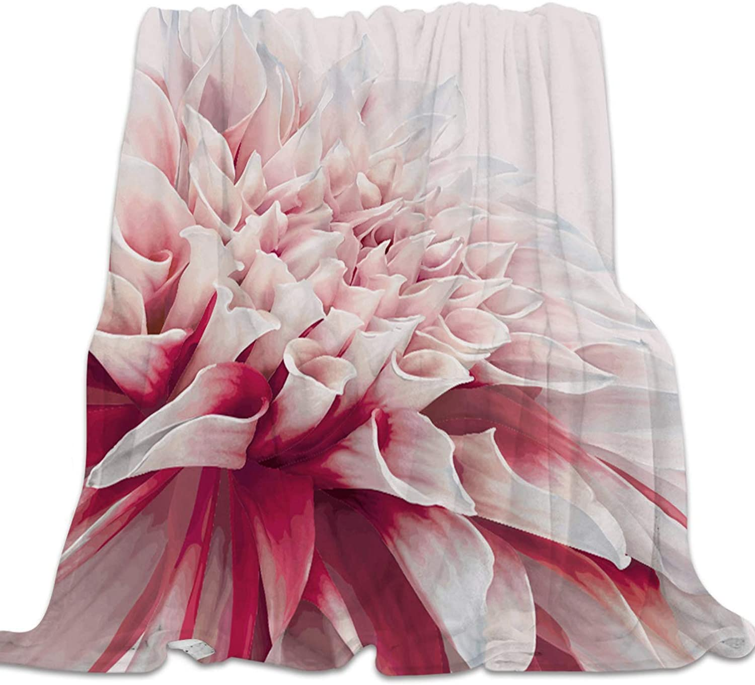 YEHO Art Gallery Flannel Fleece Bed Blanket Soft Throw-Blankets Home Decor,Stylish Flower Pattern Lightweight Kids Blankets for Sofa Couch Bedroom Living Room,49x59inch