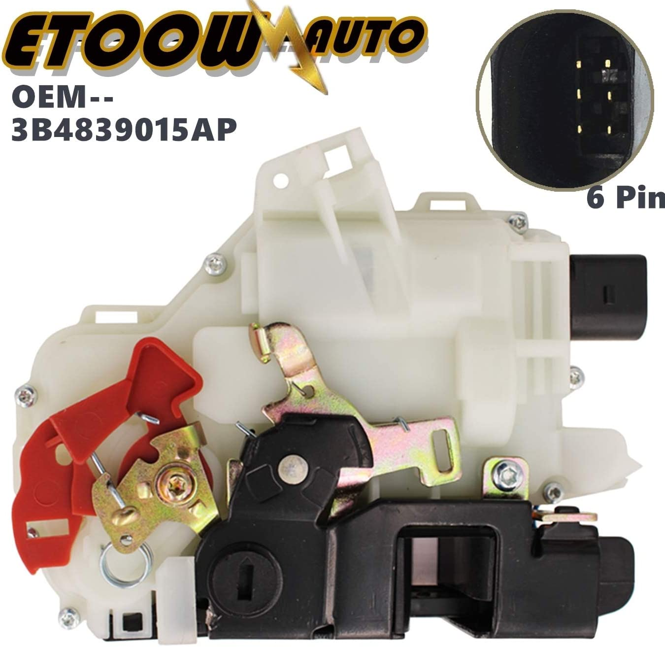 ETOOW Rear Left Driver Same day shipping Door Lock 015A Actuator Latch 839 3B4 OEM Max 89% OFF