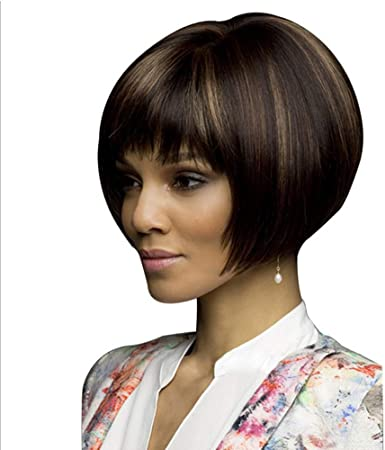 Wig Black Short Hair For Women Suitable For Any Face Type Qi Liu Short Hair 3sets Amazon Co Uk Kitchen Home