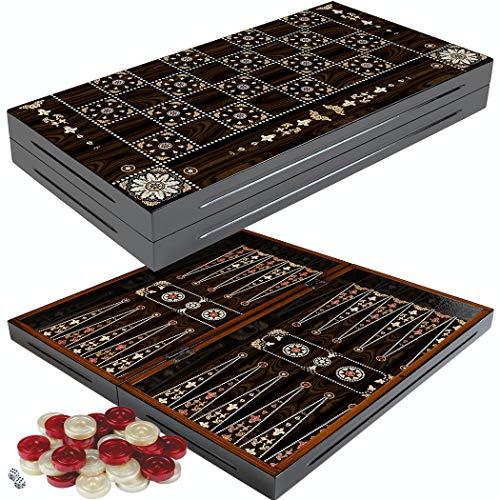 PrimoLiving Backgammon Deluxe in Legno Granada El Formato XXL 50x50 cm