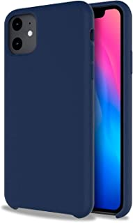 Olixar for iPhone 11 Silicone Soft Case - Silicone Slim Cover - Scratch Resistant - Olixar Case - Wireless Charging Compatible (Midnight Blue)