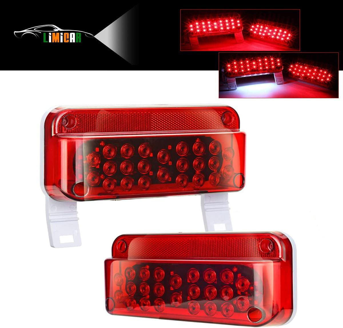 LIMICAR San Francisco Mall Chicago Mall 53 LED Red RV Camper Brake Turn Trailer Stop Tail Lights