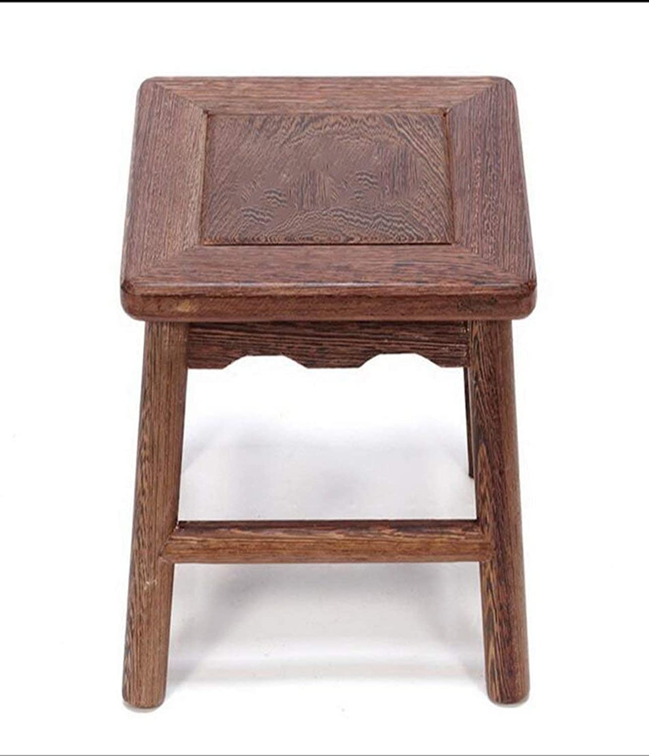 YZH Practical Chair Stool, Vintage Wooden Furniture Small Square Stool,The Best Choice for a Restaurant Cafe Lounge