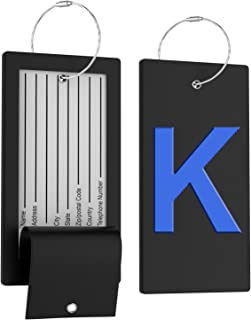 letter luggage tags
