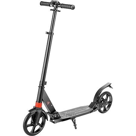 WeSkate Patinetes para Adultos Patinete Plegable y 3 Ajustable en Altura Scooter Profesional con 2 Ruedas para Adultos