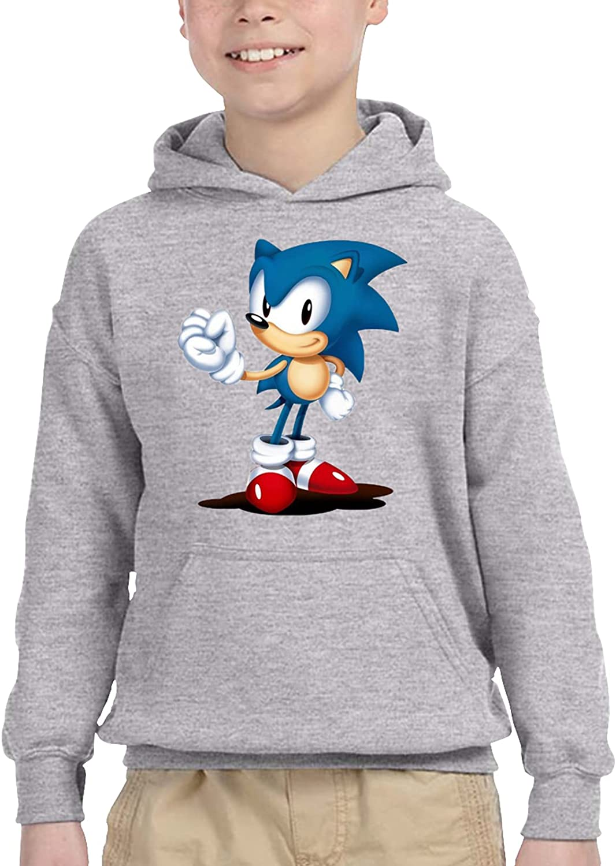 Sonic Unisex Boy Girl Children'S Hooded Pocket Sweater Sweatshirt 4t Gray